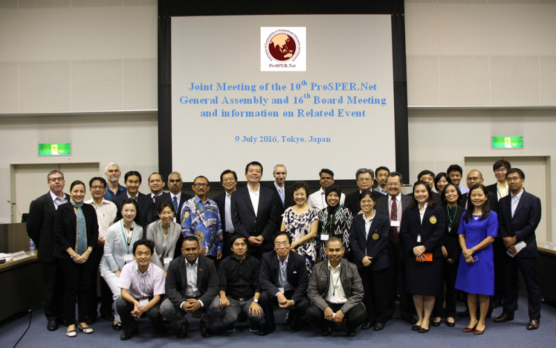 Joint Meeting of the 10th ProSPER.Net General Assembly and 16th Board Meeting and information on Related Event, Tokyo, Japan: 9 July 2016