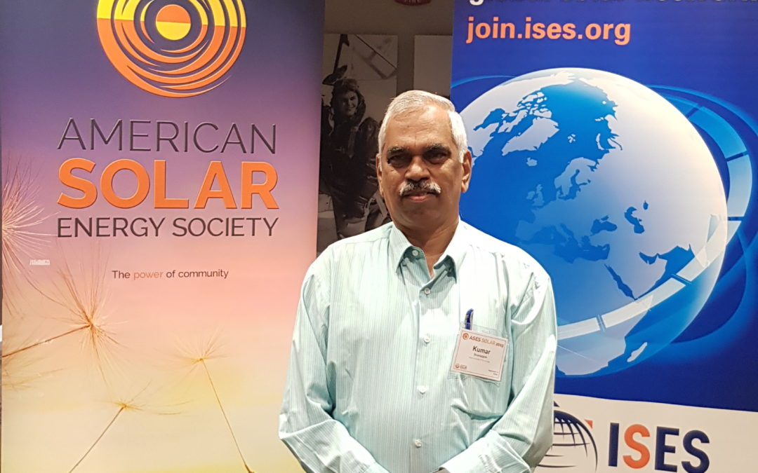 At the American Solar Energy Society (ASES) Annual Conference – Race to Renewables, Minneapolis, USA, August 7, 2019.