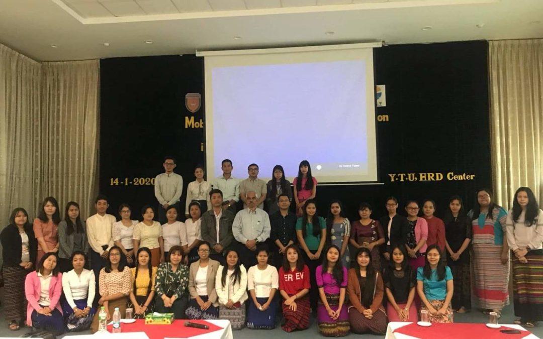 After presentation at Yangon Technological University, Yangon, Myanmar, January 20, 2020